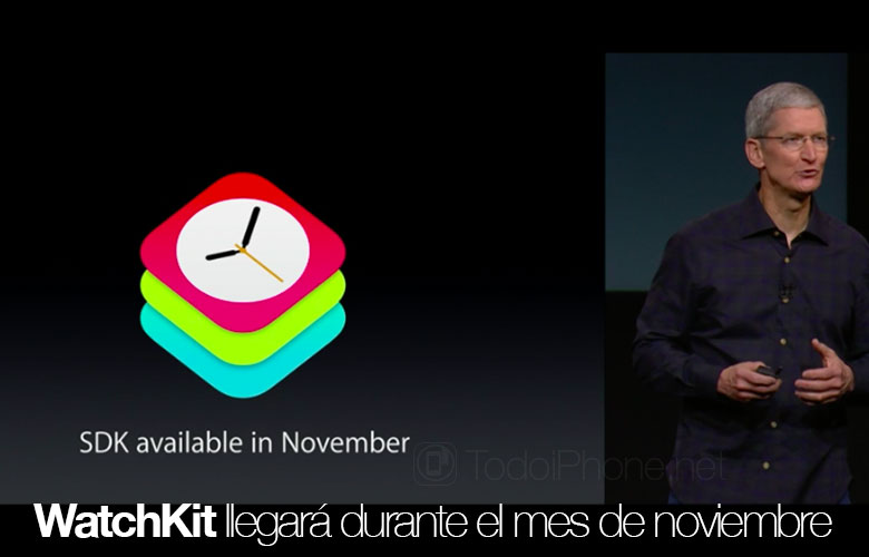 WatchKit, the API to develop apps for the Apple Watch will be available in november 4