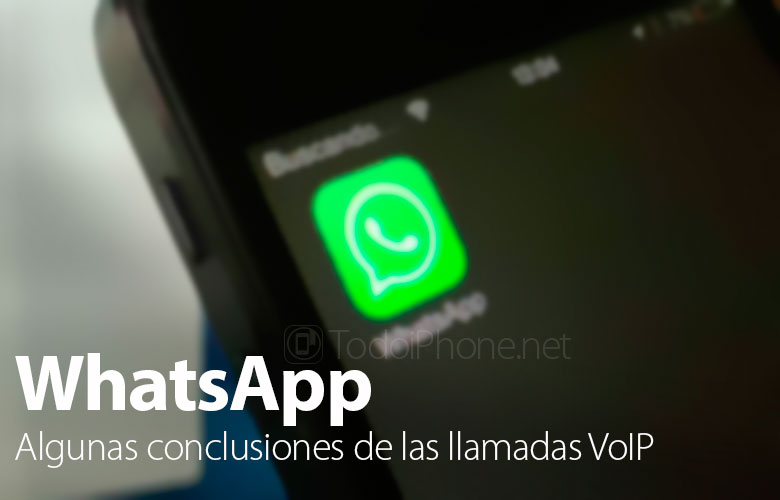 WhatsApp calls on iOS, some conclusions after the first days of use 2