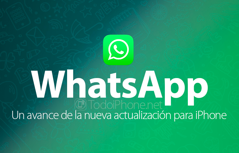 WhatsApp for iPhone, a preview of the new update 5