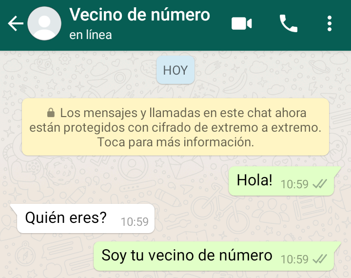 WhatsApp: the new viral challenge is to send a message to your number neighbor 2