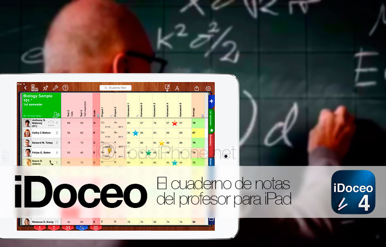 iDoceo 4, the new version of the teacher's notebook for iPad 5
