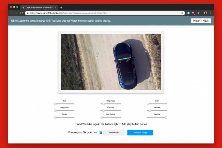 How to extract images from videos of YouTube 7