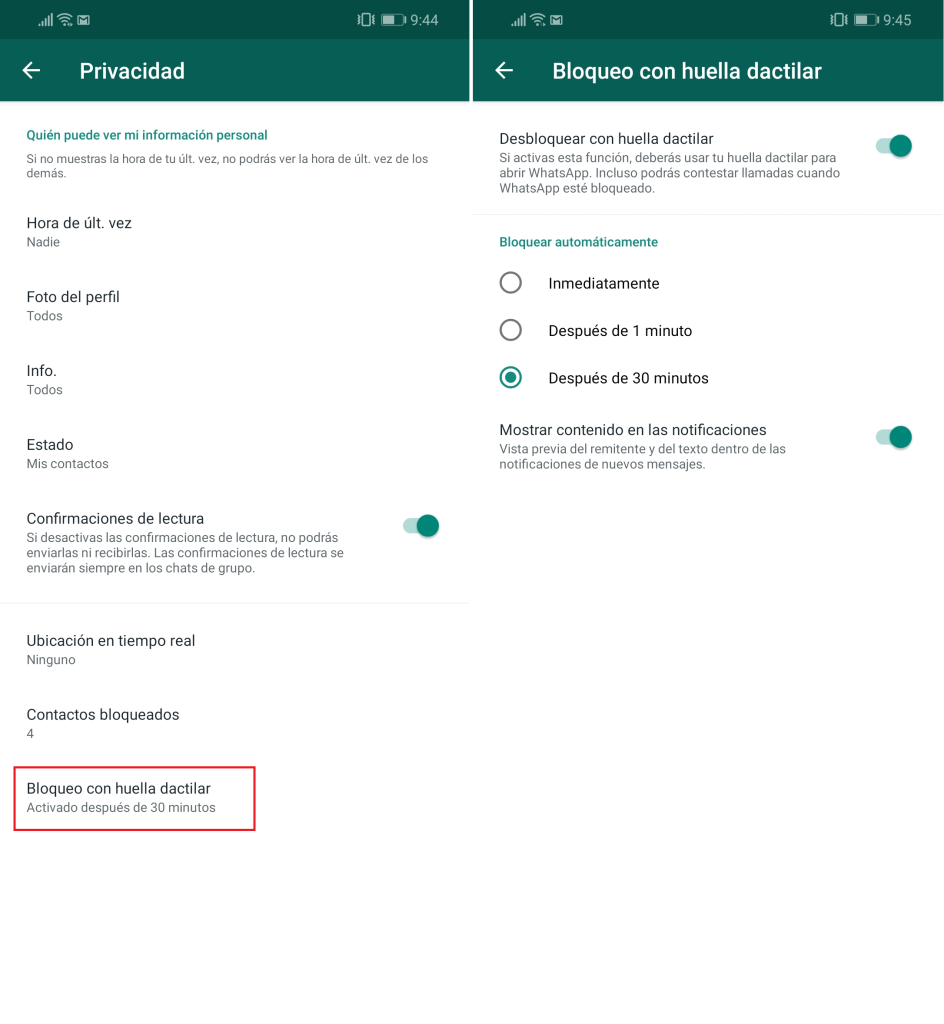 How to block your WhatsApp with fingerprint so that nobody reads your conversations? 3