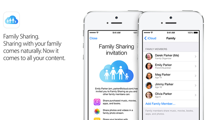 Familiy Sharing, a new feature of iOS 8 for content sharing 4
