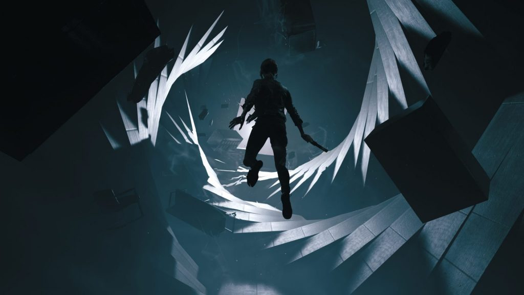 Photo shows one of Control's distorted environments, with moving walls, moving places, keeping one secret after another.