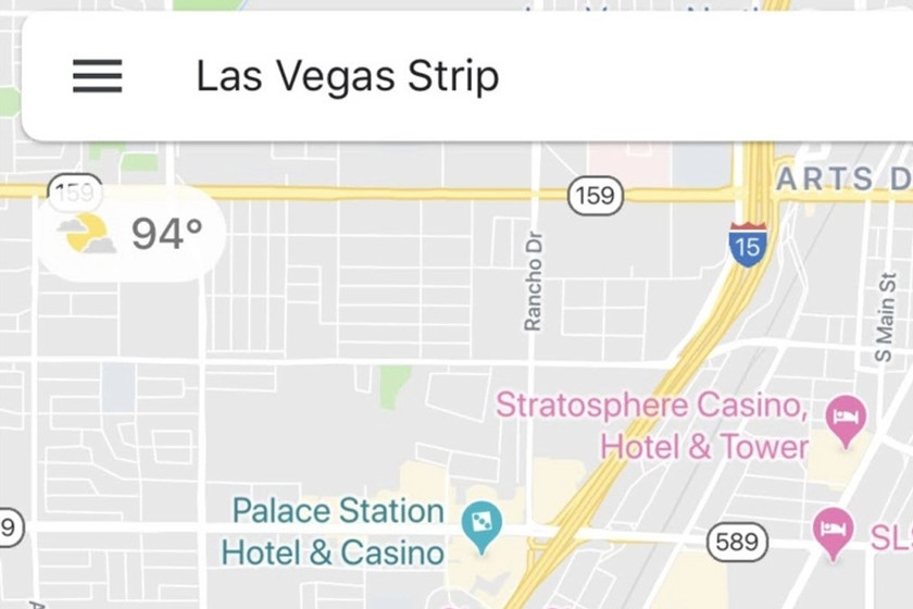 Google Maps shows the time of the area you are looking at in your last test for iOS