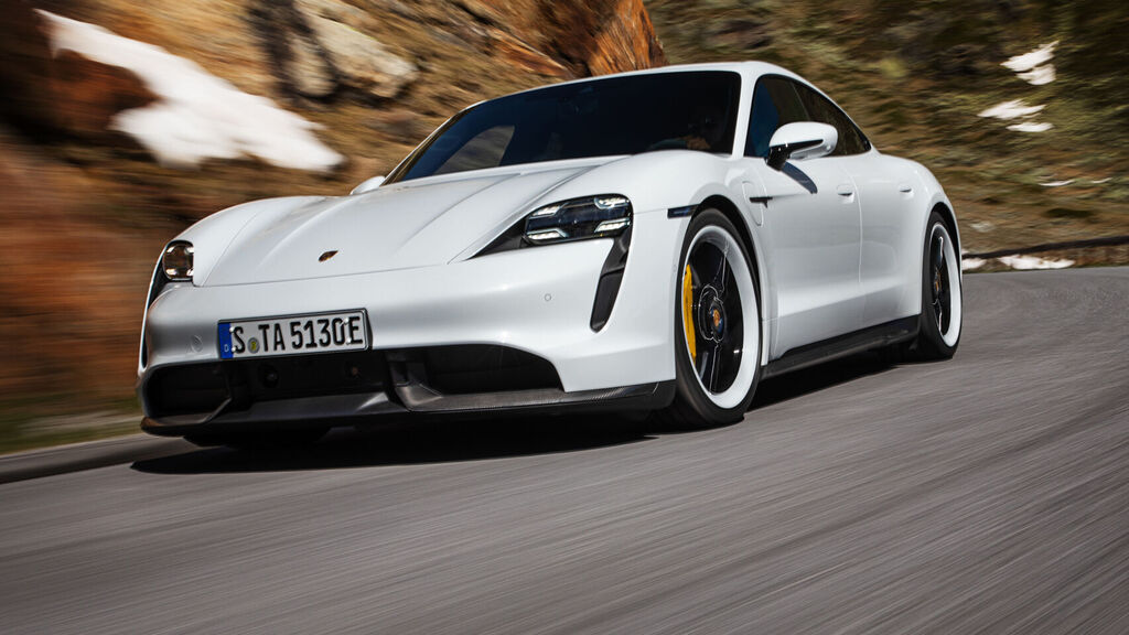 this is the Porsche Taycan 1
