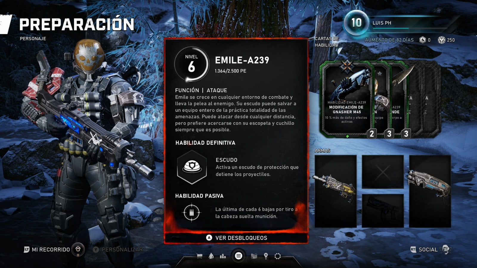 Know all the skill cards of the Horde mode of Gears 5 8