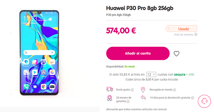Huawei P30 Pro announcement in Cash Converters