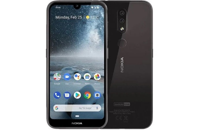 Front and rear of the Nokia 4.2
