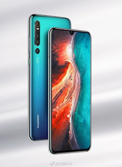 A new render of the Huawei P30 Pro reflects four sensors in its main camera 6