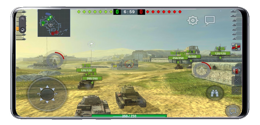 Graphic quality of World of Tanks Blitz MMO