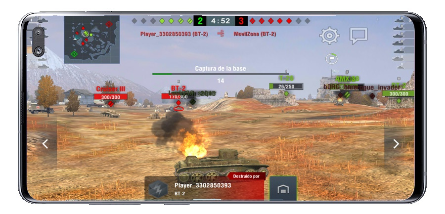 Tank destroyed in World of Tanks Blitz MMO