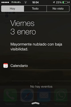 IOS 7 Time Notifications Center