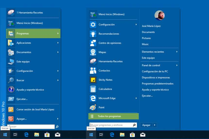 How to change the appearance of the Start menu of Windows 5