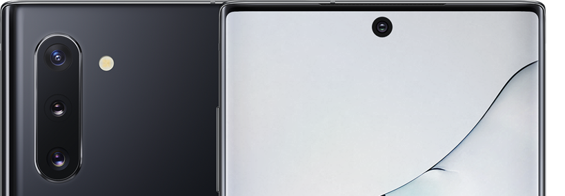 Galaxy Note  10 screen and cameras