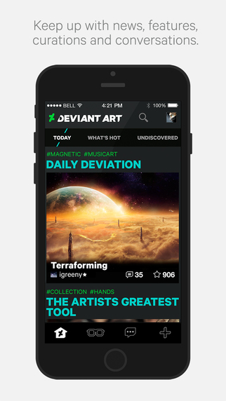 DeviantArt, the official app of the designer community comes to the iPhone 7