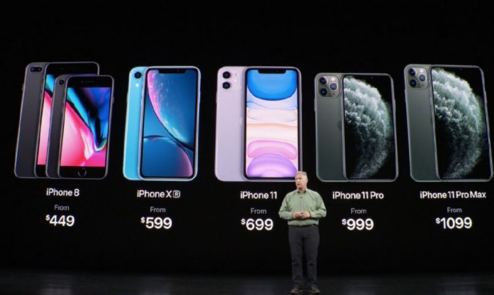 Versions and prices of the iPhone 11 Pro and iPhone 11 Pro Max 2