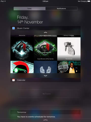 Music Center, the Widget to control Music from the iOS 8 Notifications Center 4