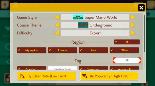 Mario Maker 2 game styles