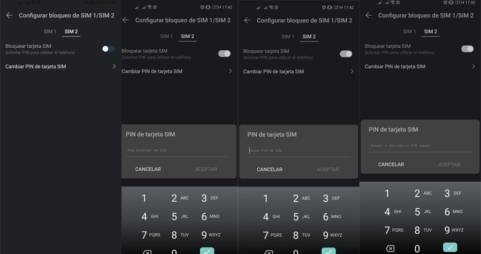 How to change the SIM PIN code on Android 5