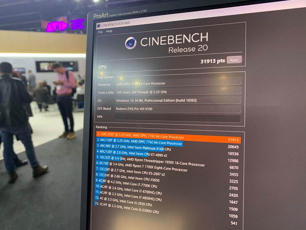AMD breaks Cinebench and V-Ray records with two Epyc 7742 3