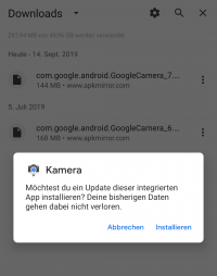 The installation of the Google Camera 7 APK can be done via the existing v6.3. | (c) Areamobile