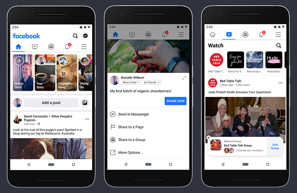 Facebook redesign your application focusing on groups and events 2