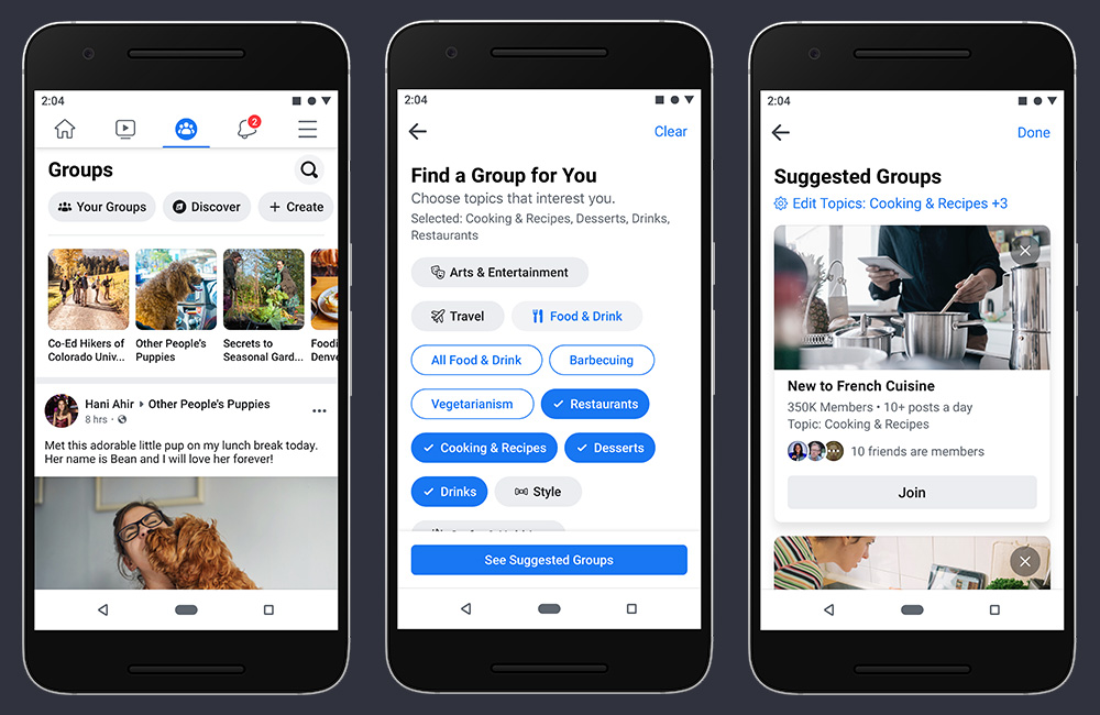 Facebook redesign your application focusing on groups and events 3