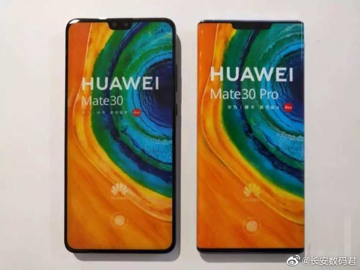 Huawei Mate 30 with the Mate 30 Pro