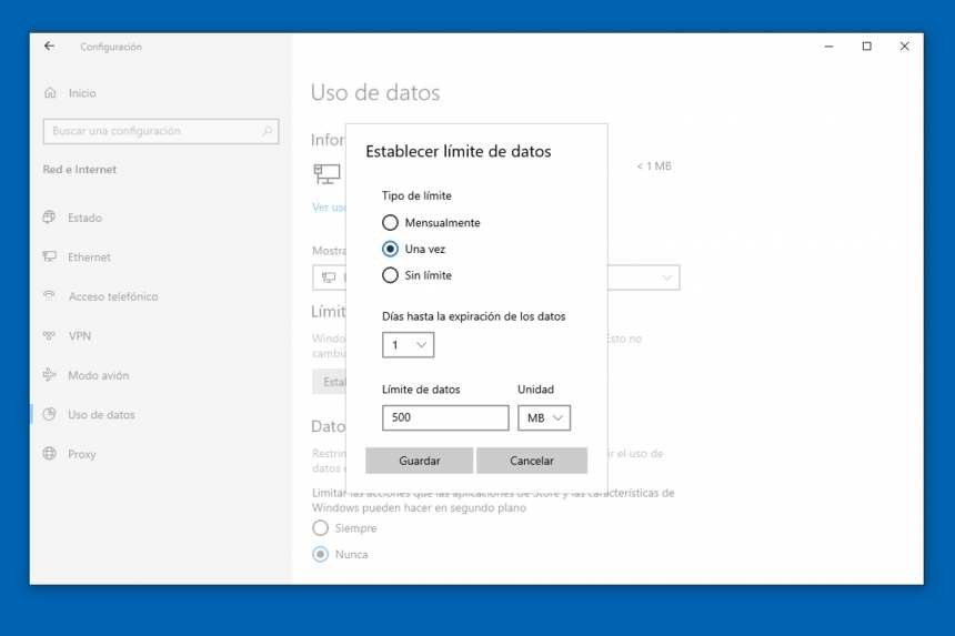 How to monitor the use of mobile data in Windows 10 3