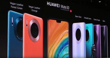 At the Huawei-PK on 19.09.19 in Munich also the color variants of the Mate 30 series were presented. | (c) Areamobile
