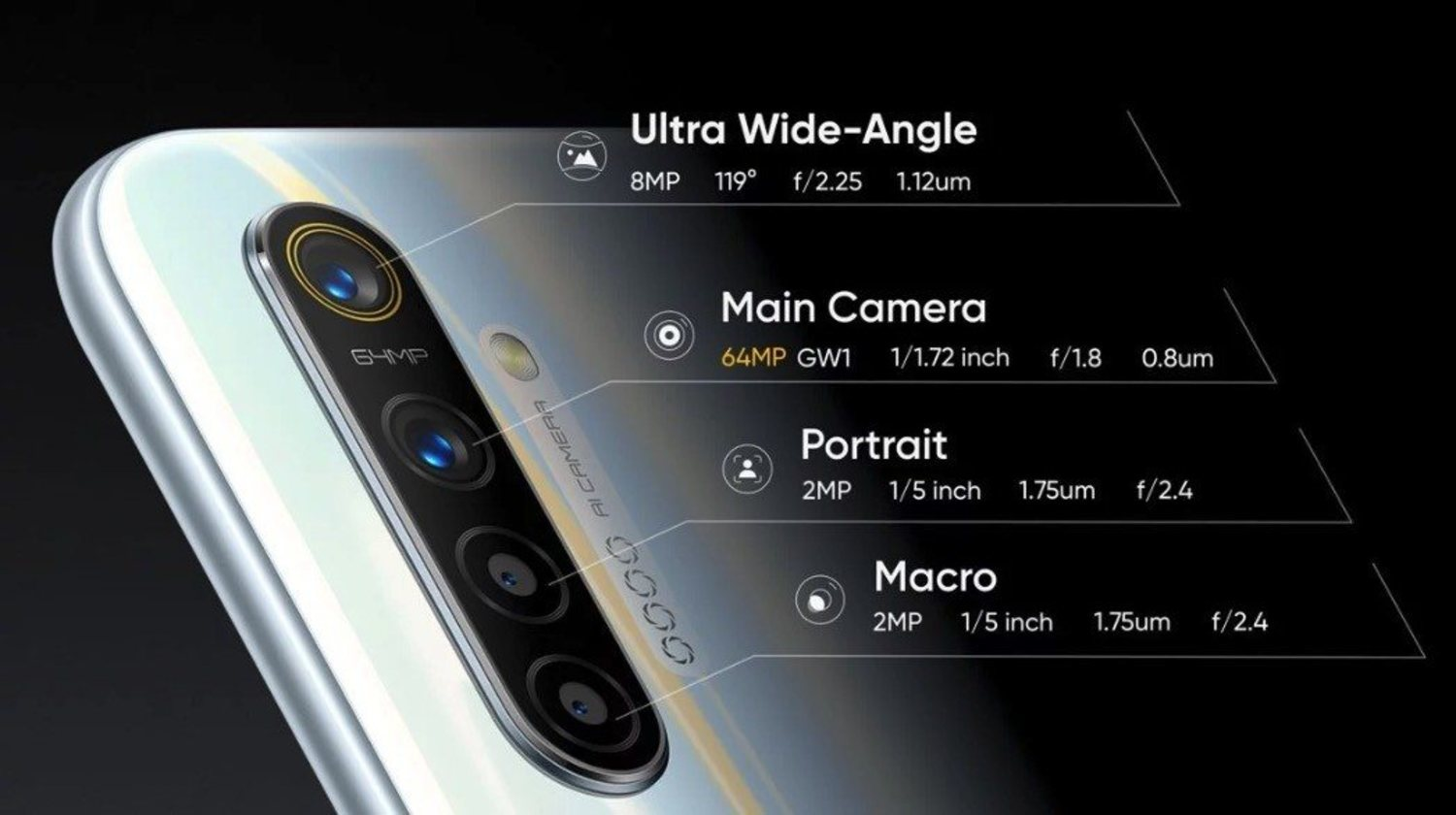 The photographic section is very careful in this Realme XT.