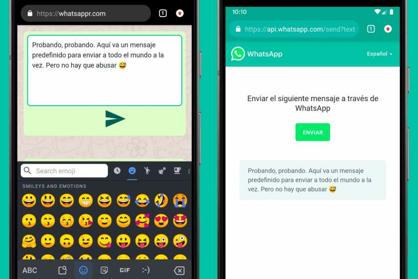 How to send predefined messages in WhatsApp 2