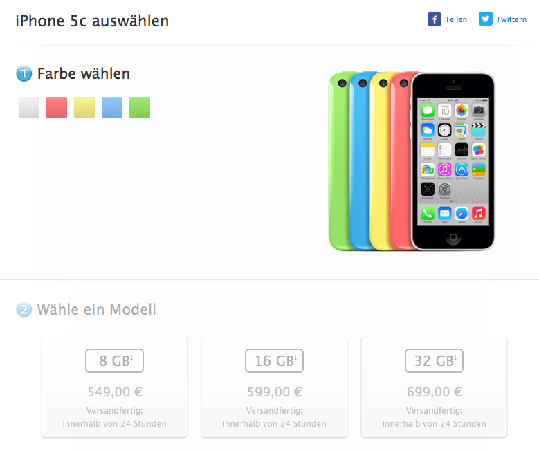 iPhone 5c 8GB Apple German Store