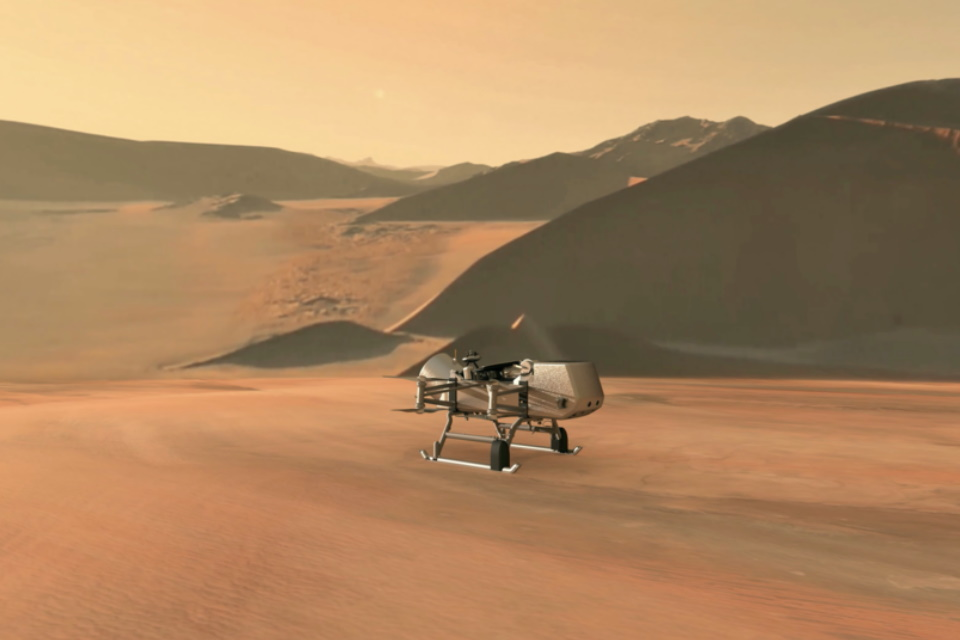 Dragonfly: This little drone will explore a Saturn moon