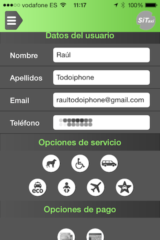 SiTaxi, order a taxi in Barcelona from your iPhone 13
