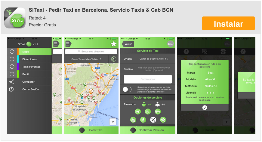 SiTaxi, order a taxi in Barcelona from your iPhone 17