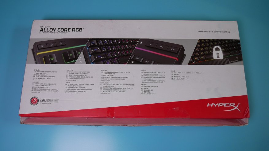 Overview of the first HyperX Alloy Core RGB gaming membrane keyboard 19