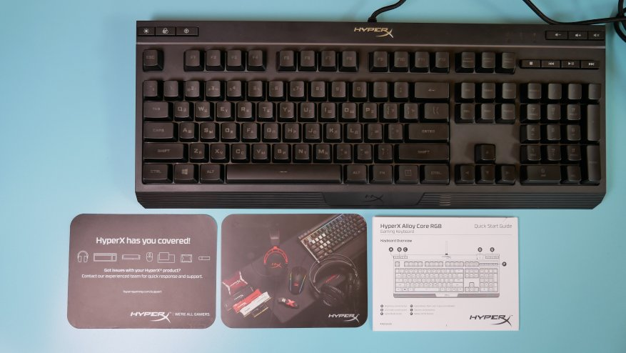 Overview of the first HyperX Alloy Core RGB gaming membrane keyboard 21