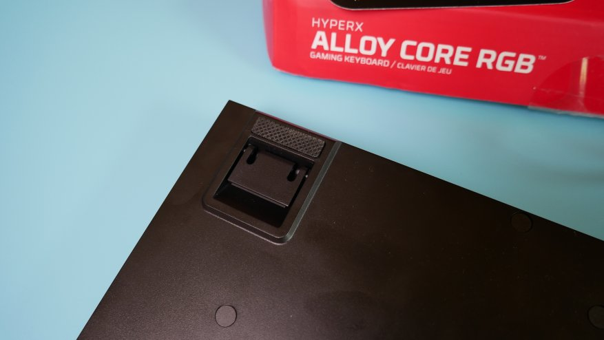 Overview of the first HyperX Alloy Core RGB gaming membrane keyboard 24