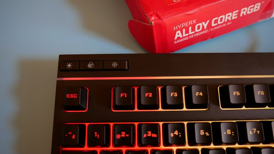 Overview of the first HyperX Alloy Core RGB gaming membrane keyboard 32