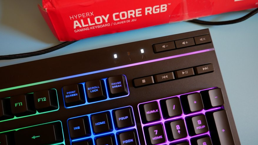 Overview of the first HyperX Alloy Core RGB gaming membrane keyboard 33