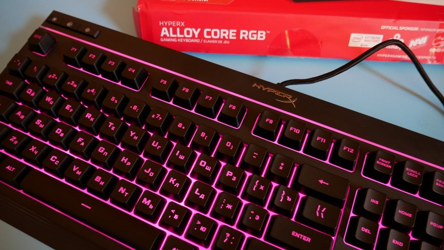 Overview of the first HyperX Alloy Core RGB gaming membrane keyboard 34