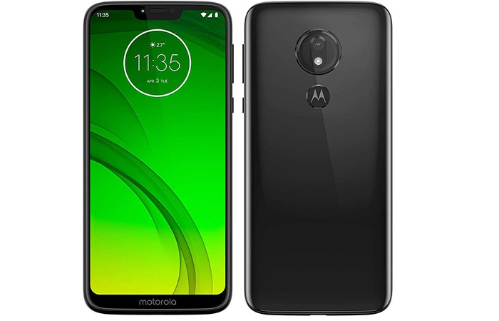 Front and rear of the Moto G7 Power