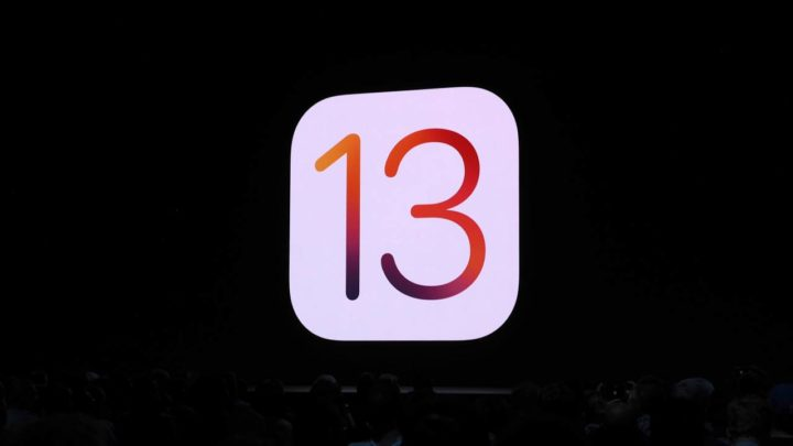 IOS 13 logo with black background