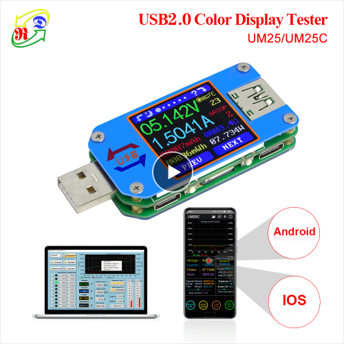 Electronic load overview with integrated RD LD25 tester: how to identify low-quality chargers 54