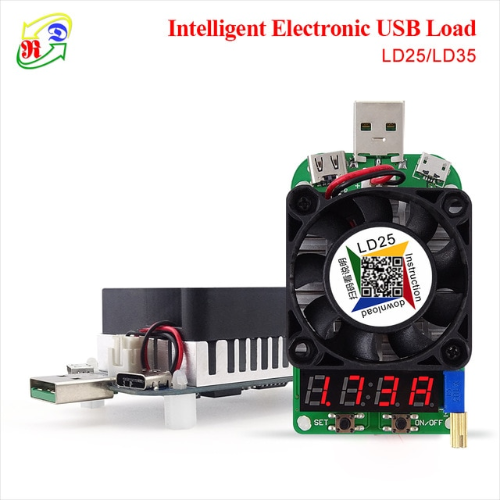 Electronic load overview with integrated RD LD25 tester: how to identify low-quality chargers