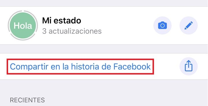 Image - How to share a WhatsApp Status in the stories of Facebook