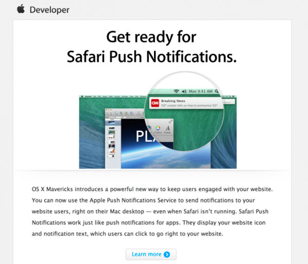 Apple Ask Developers to Prepare Push Notifications for Safari 2